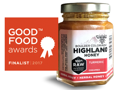 Good Food Awards Finalist 2017 Fermented Turmeric in Creamed Honey